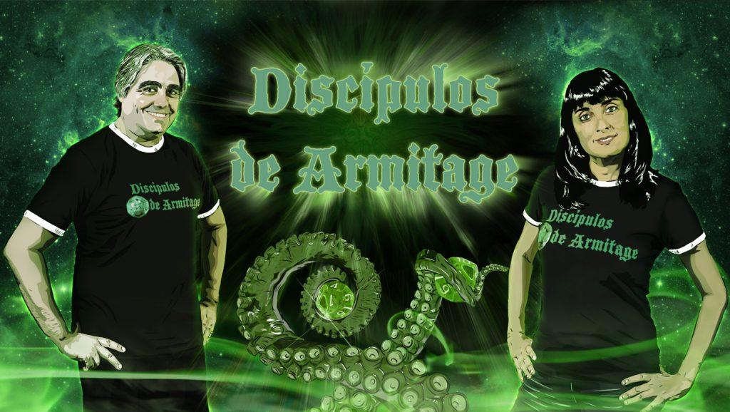 Ilustración RRSS Canal de Youtube Discípulos de Armitage