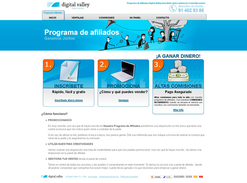 Diseño web page Digital Valley