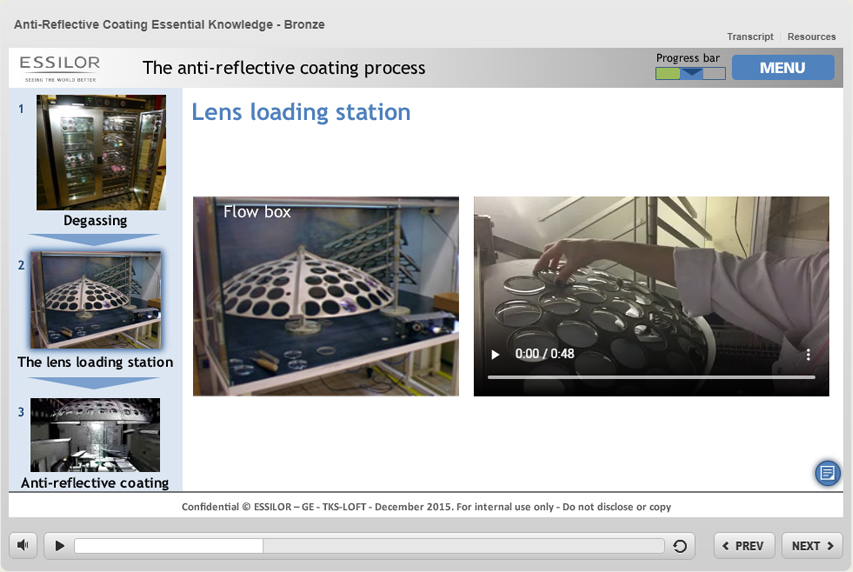 Slide e-learning (Essilor)