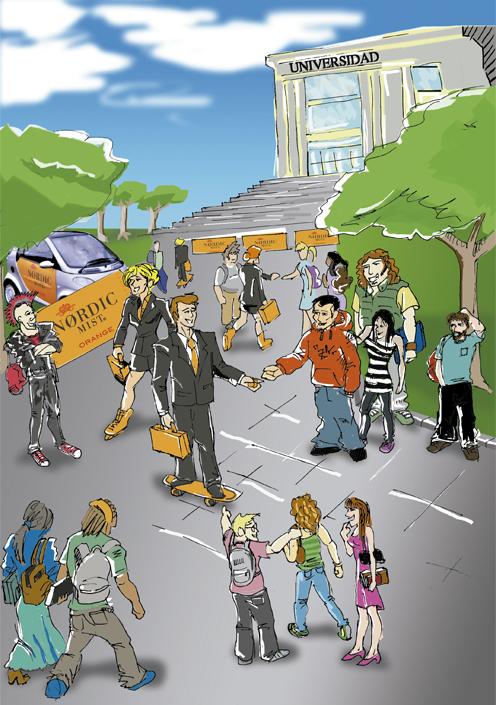 Ilustración promocional para evento Nordic Mist