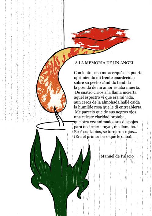 """Ilustración poética """"A la memoria de un ángel"""""""