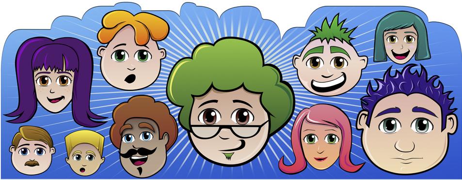 Catálogo de personajes recursos motivacionales (Xtend - Everis)