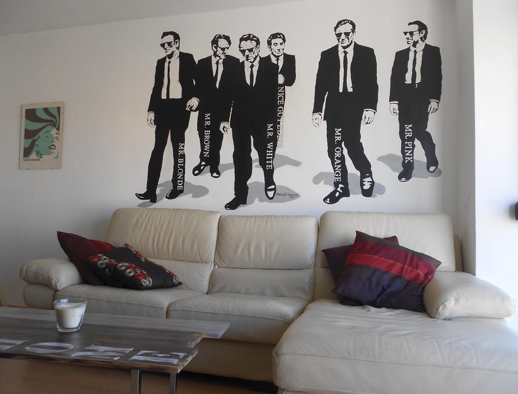 Pintura Mural Reservoir Dogs