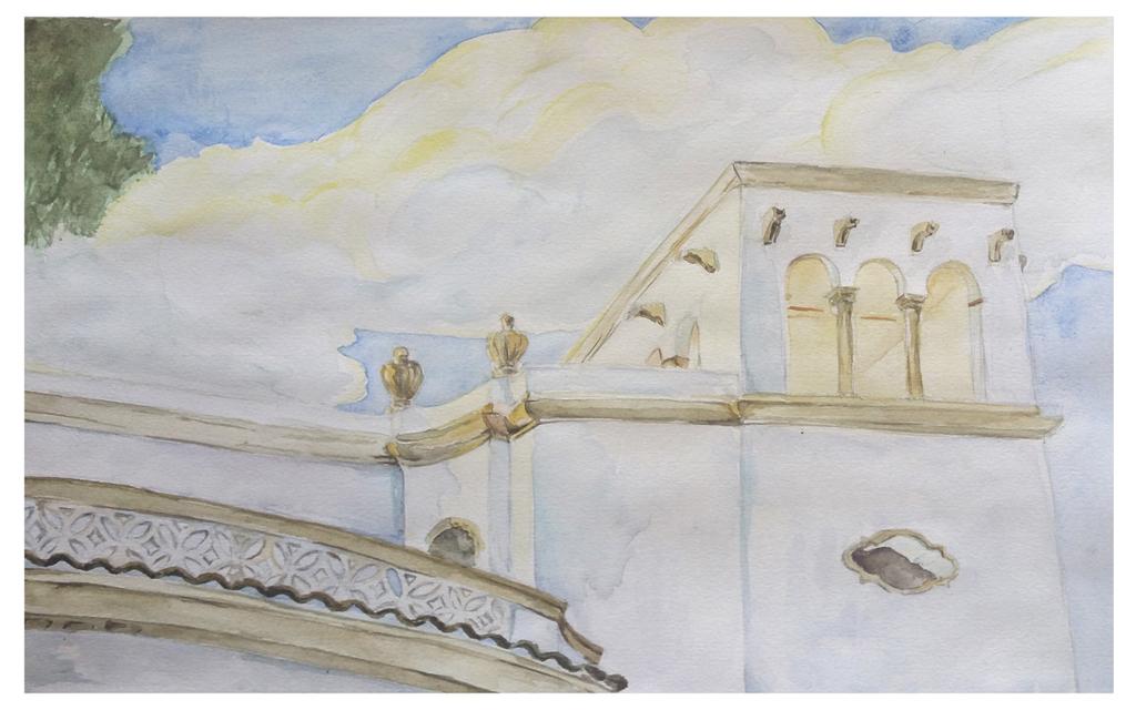"""Villa Elisa"". Acuarela sobre papel. 30x21."