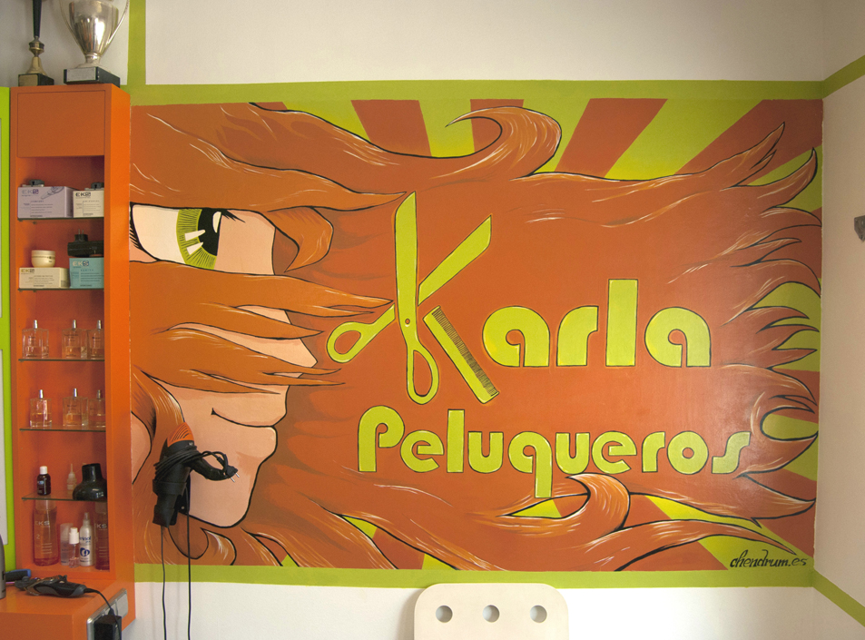 Pintura Mural Karla Peluqueros.