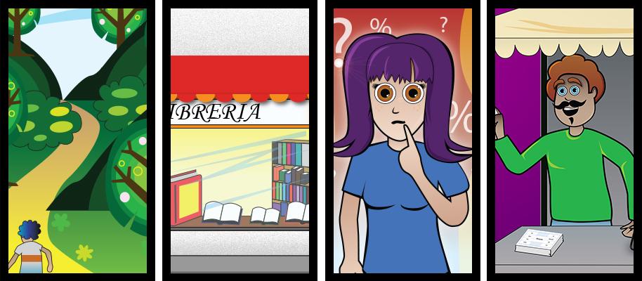 Ilustraciones juveniles contenidos audiovisuales de formación (Xtend - Everis)